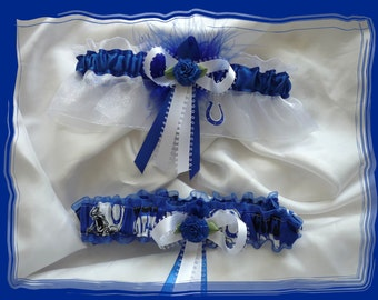 Indianapolis COLTS Fabric Wedding Garter Set RB