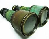 Antique JUMELLE MARINE BINOCULARS  -  Brass