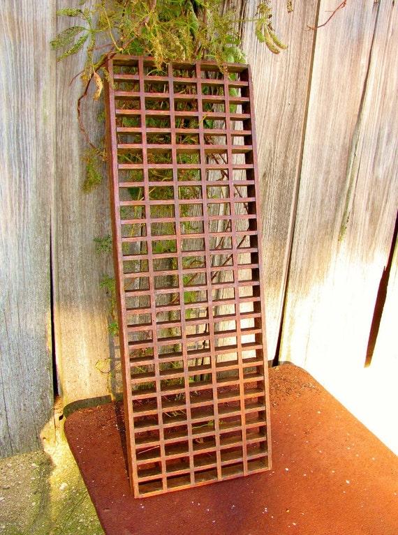 LargeVintage  WOOD REGISTER GRATE /  Home Decorator Piece