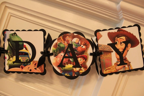 TOY STORY Happy Birthday Party Banner