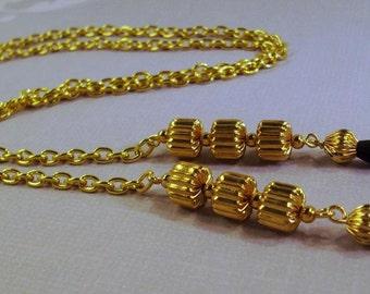 Heavy Duty Gold Chain Eye Lanyard
