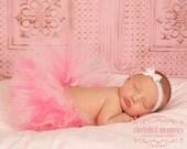 Bubble Gum Pink Tutu Newborn - 7