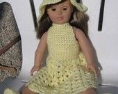 PDF Patterns includes Sundress, Hat, Panties and Shoes for American Girl or 18 inch Doll