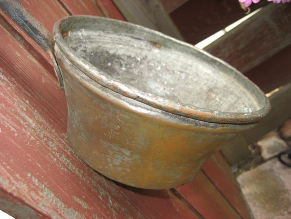 Rustic Old Antique Copper Pot
