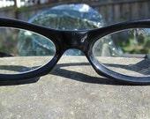 Sweet & Petite Vintage Black Italian Bandit Glasses/Frames