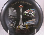 Vintage 1960s Seattle, Washington Serving / Party Tray  Mid Century Madness
