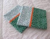 Pillow Cases - Irish Shamrocks - Set of  2 - Green and White