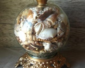 Recycled Vintage Nautical Sea Shell Lamp