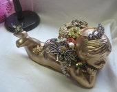 Vintage Recycled  Ceramic  Jewelry  Angel
