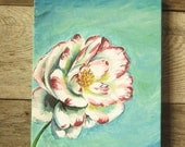 Cottage Spring Flower Art Work Painting- on Canvas