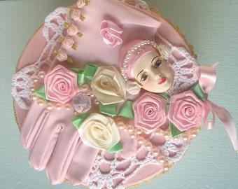 Handmade Victorian Pearl Trinket Box