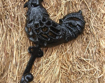 Cast Iron Rooster Hook
