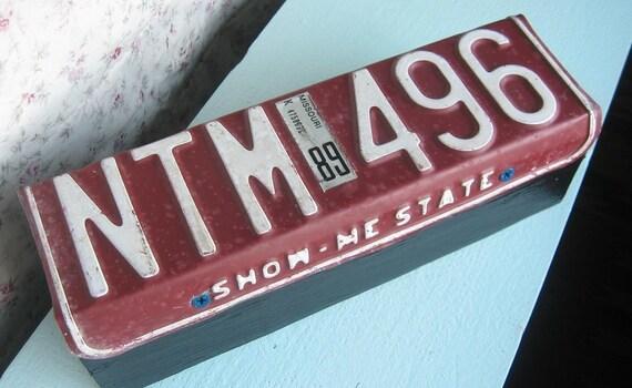 Missouri License Plate Door Stop / Conversation Piece