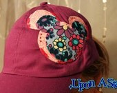 One of A Kind Favorite Mouse Appliqued Hat in Purple