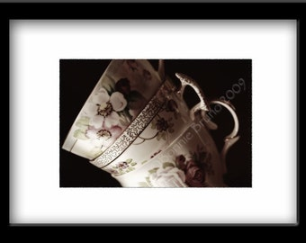 VINTAGE TEACUPS fine art photography, archival print, wall decor, kitchen art print