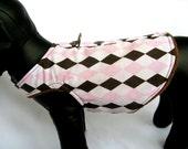 Harness Vest - Pink Argyle -  Any Size