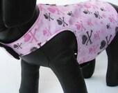 Harness Vest - Pink Skulls - Any Size