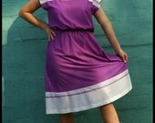 SALE Purple Retro Dress