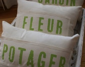 Original...Petit French Farmhouse and Garden Set of Pillows by My Adobe Cottage