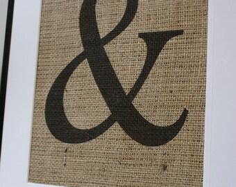 Free US Shipping...Custom - Any Letter, Any Symbol...La Poste Burlap Print