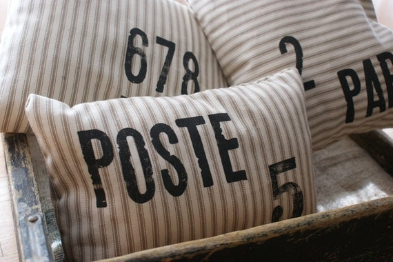 Country Living Magazine...Petit French Industrial Pillows   Series 1