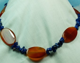 Carnelian & Lapis Necklace