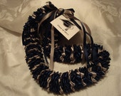 Reserved for hawaiisunflr  Navy and Grey Graduation Lei