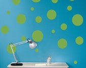 Polka Dots Decal Vinyl Wall Art - Children Wall Decals - Set of 22