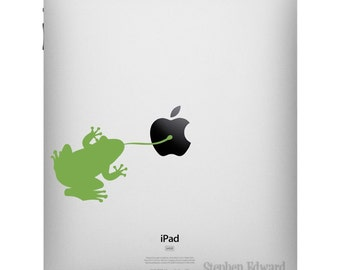 Sticky Frog iPad Decal - Apple iPad sticker - Frog Tablet Decal