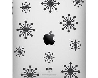 Fifties Starbursts iPad Decal - Apple iPad decal - Starburst Tablet Sticker