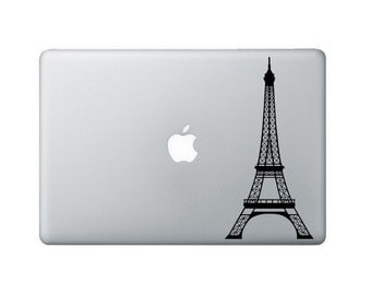 Eiffel Tower Laptop Decal - French Macbook decal - Eiffel Tower Laptop Sticker