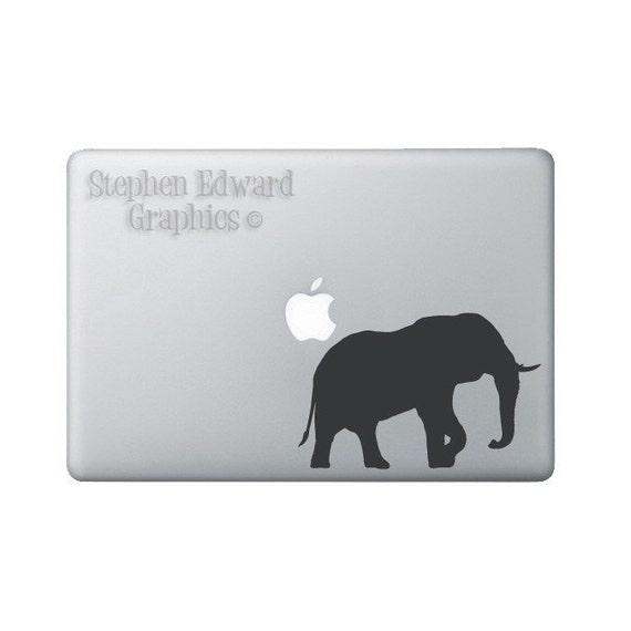 Elephant Laptop Decal - Elephant Macbook Decal - Laptop Sticker
