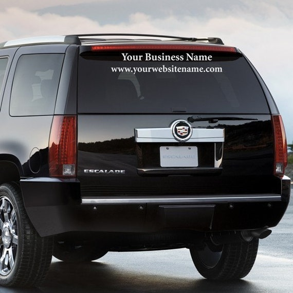 Car Decal Advertising (2 Lines) - Advertise your business name and website on your Car, SUV or Truck