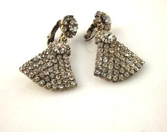 Rhinestone Earrings - Vintage