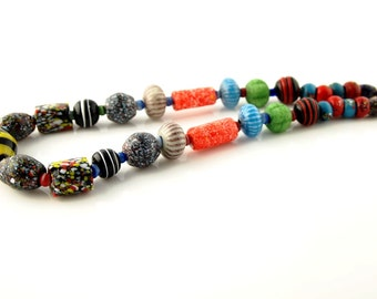 Ceramic Necklace - Vintage