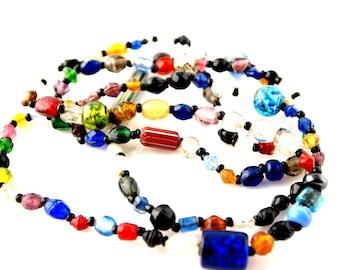 Bohemian Glass Necklace - Vintage