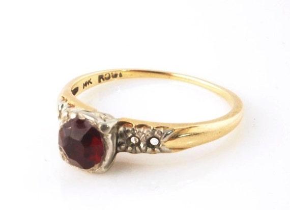 Vintage 14k Ring, Missing Stones, Destash