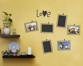 Picture and Photo Frame Layout - Photo Love - Vinyl Wall Sticker