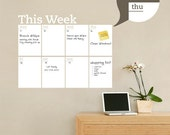 Weekly Planner Dry Erase Calendar - Modern Vinyl Wall Decal