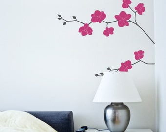 Orchid Flower Decal - Nature Vinyl Wall Decal