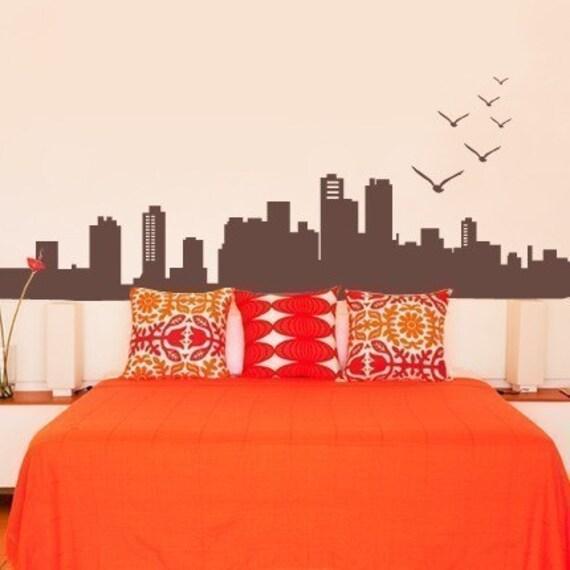 City Skyline Decal - Vinyl Wall Decal