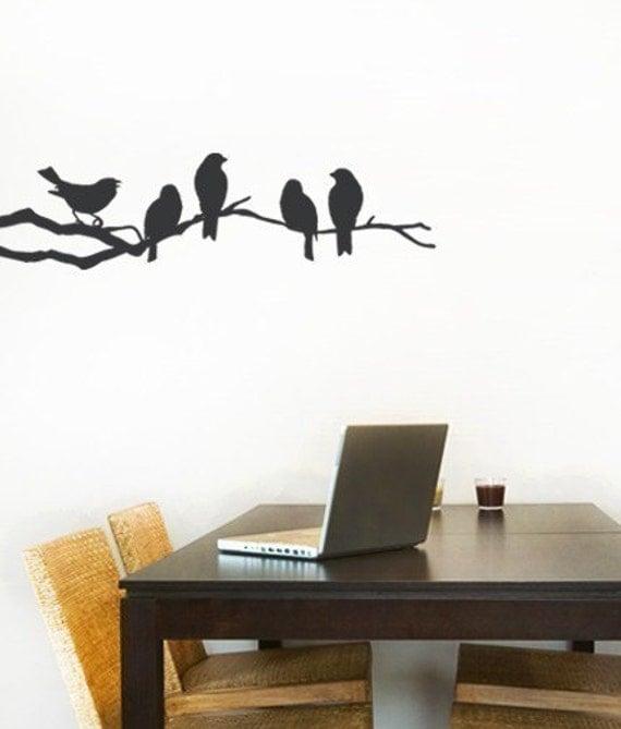 Birds On A Branch Decal Vinyl Wall Sticker