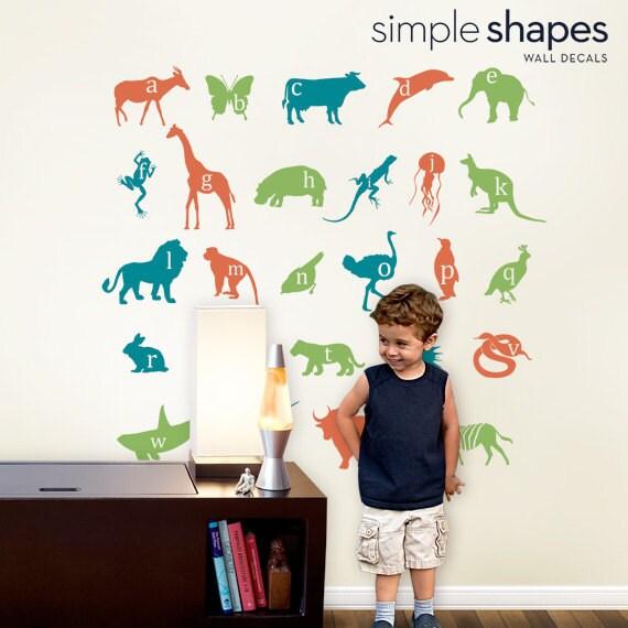 Wall Decals - Alphabet Animals