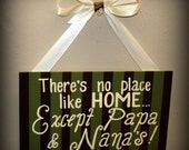 There's No Place like Home . . . except Nana & Papa's     hand painted custom wooden sign