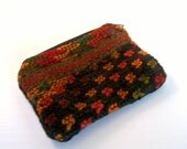 Coin Purse Small Vintage Needlepoint in Fall Colors