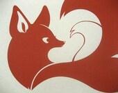 Fox Screenprint (13x18)