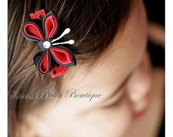 Sierra Bella Swarovski Ribbon Butterfly Clippie