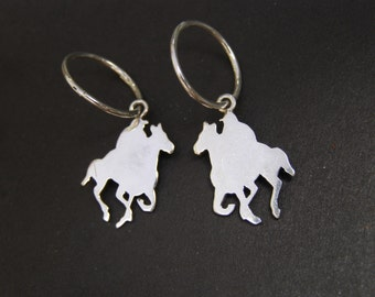 A Day At The Races. Earings. Silver Horses.