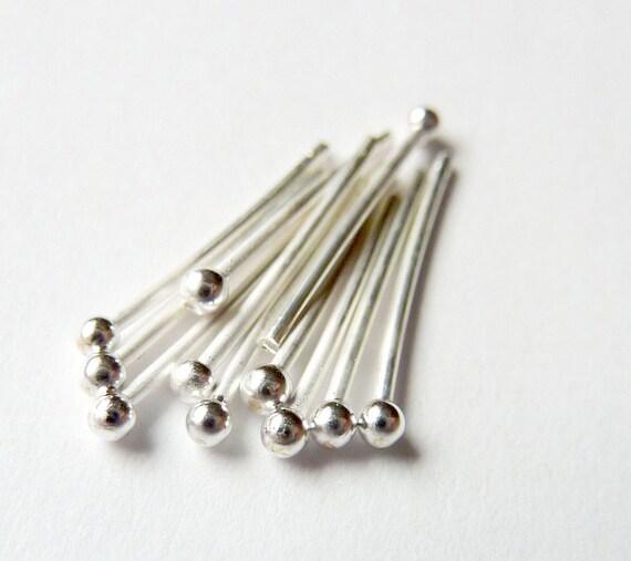 10pcs - 20 Gauge - Pick Length -  Fine Silver Headpins - Tagt Team