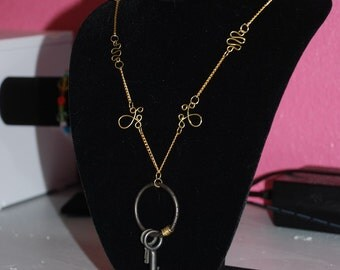 Janitor Ring Skeleton Key Necklace -Great Holiday Gift-